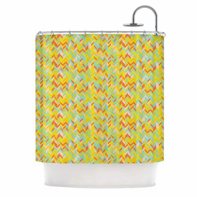 Allison Soupcoff Chevron Pop Shower Curtain