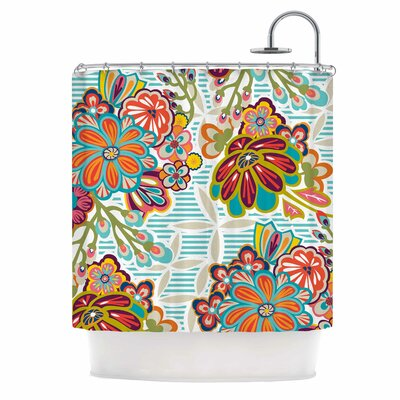 Agnes Schugardt Kimono Floral Shower Curtain