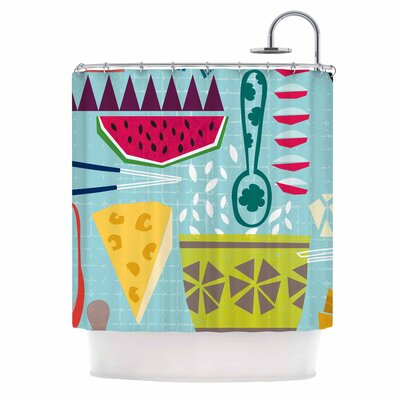 Agnes Schugardt Dinner Out Food Vintage Shower Curtain