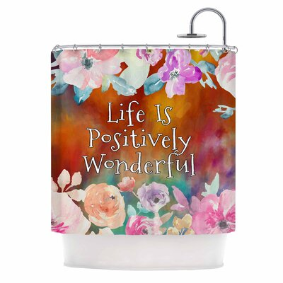 AlyZen Moonshadow Life is Positively Wonderful 1 Digital Shower Curt