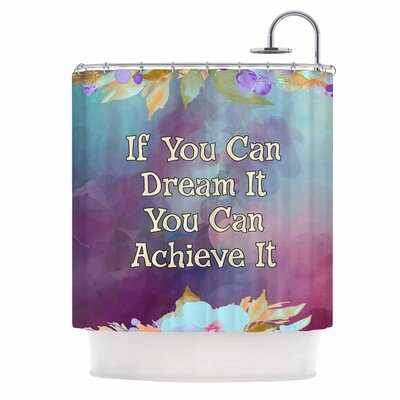 AlyZen Moonshadow If You Can Dream it Digital Shower Curtain