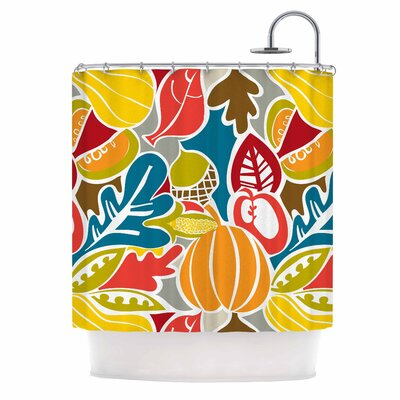 Agnes Schugardt Fall Harvest Food Shower Curtain