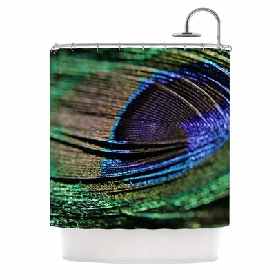 Angie Turner Peacock Feather Shower Curtain