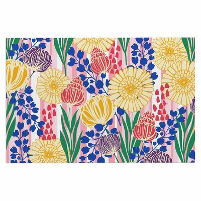 Amy Reber Pretty Bouquet Floral Doormat