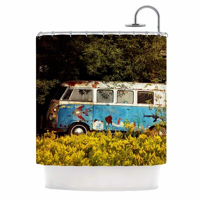 Angie Turner Hippie Bus Shower Curtain