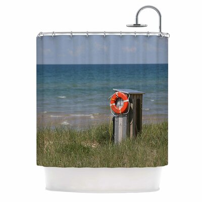 Angie Turner Life Saver Shower Curtain