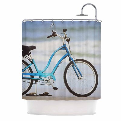 Angie Turner Beach Bike Shower Curtain