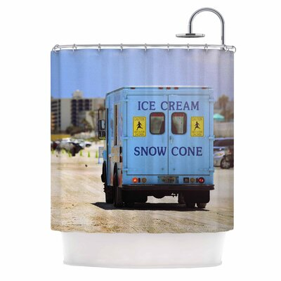 Angie Turner Ice Cream Truck Shower Curtain