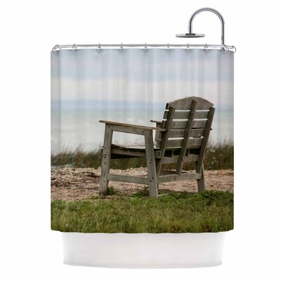 Angie Turner Beach Bench Shower Curtain