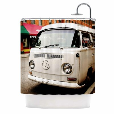 Angie Turner VW Bus Vintage Shower Curtain