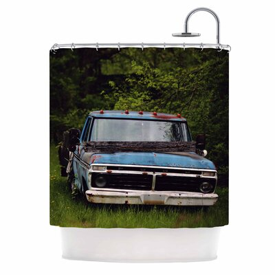 Angie Turner Old Ford Truck Digital Shower Curtain