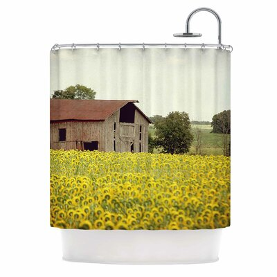 Angie Turner Field of Sunflowers Nature Shower Curtain