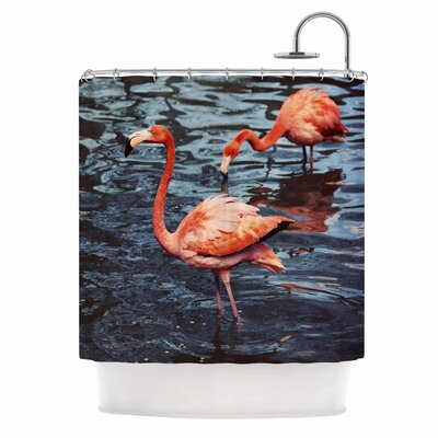Angie Turner Flamingo Shower Curtain