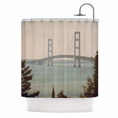 Angie Turner Mackinac Bridge Travel Shower Curtain