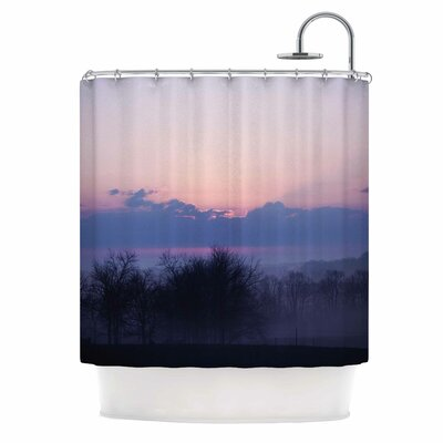 Angie Turner Purple Sunrise Shower Curtain