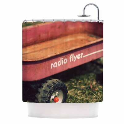 Angie Turner Radio Flyer Shower Curtain