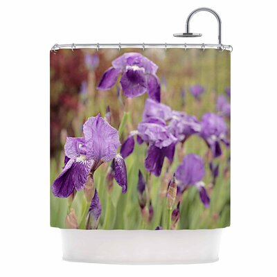 Angie Turner Irises Floral Shower Curtain