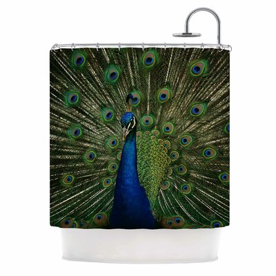 Angie Turner Proud Peacock Animal Shower Curtain
