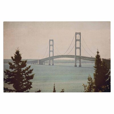 Angie Turner Mackinac Bridge Travel Doormat