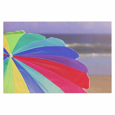 Angie Turner Beach Umbrella Coastal Photography Doormat