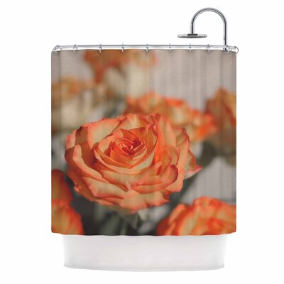 Angie Turner Roses Floral Shower Curtain