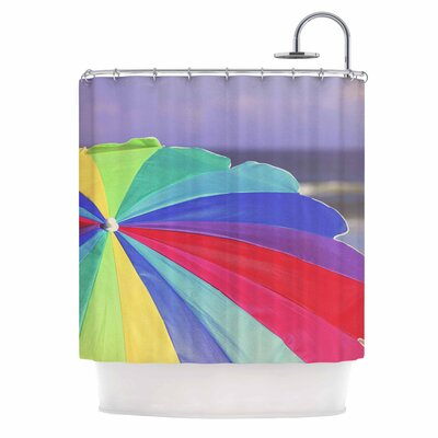 Angie Turner Beach Umbrella Coastal Photography Shower Curtain