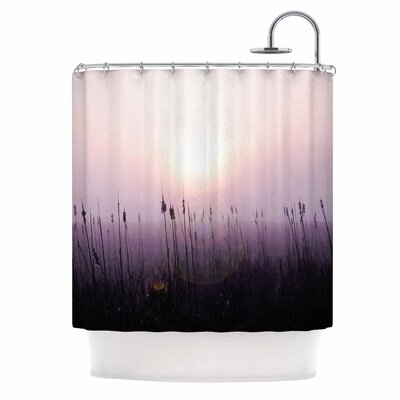 Angie Turner Sunrise Cattails Shower Curtain