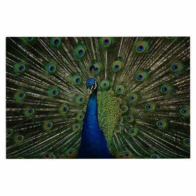 Angie Turner Proud Peacock Animals Doormat