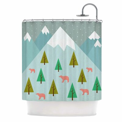 Cristina Bianco Bears Illustration Nature Shower Curtain