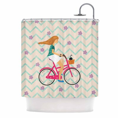 Cristina Bianco Bicycle Ride Shower Curtain