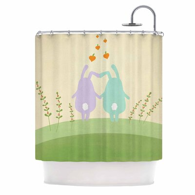 Cristina Bianco Cute Bunnies Animal Shower Curtain