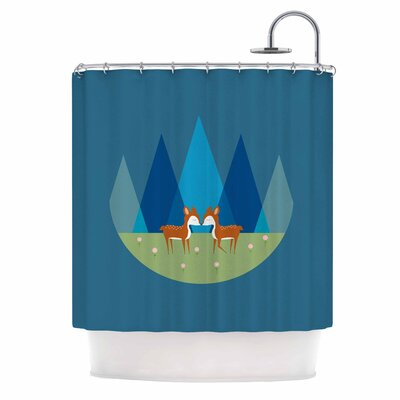 Cristina Bianco Cute Baby Deer Illustration Shower Curtain