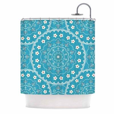Cristina Bianco Mandala Floral Shower Curtain