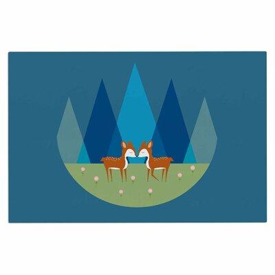 Cristina Bianco Cute Baby Deer Illustration Doormat