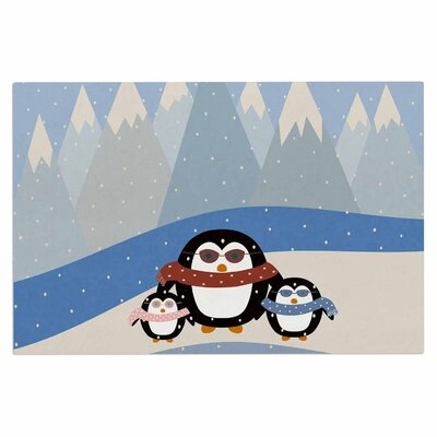 Cristina Bianco Cute Penguins Illustration Doormat