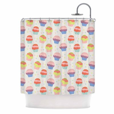 Cristina Bianco Cupcakes Food Shower Curtain