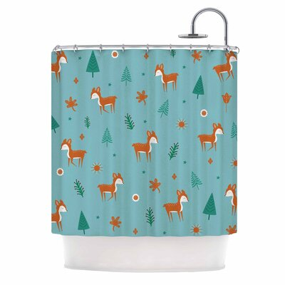 Cristina Bianco Cute Deer Kid Shower Curtain