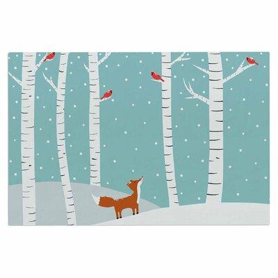 Cristina Bianco Fox Cardinal Winter Kids Doormat