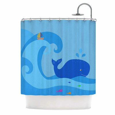 Cristina Bianco Whale Shower Curtain