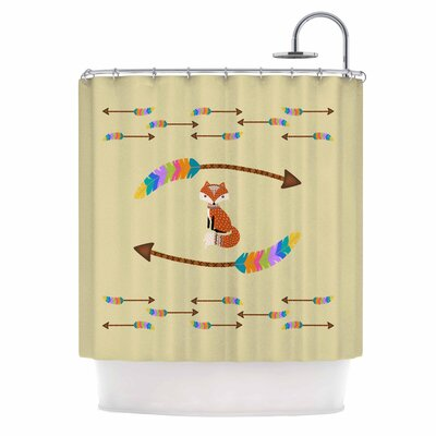 Cristina Bianco Fox Tribal Arrows Shower Curtain