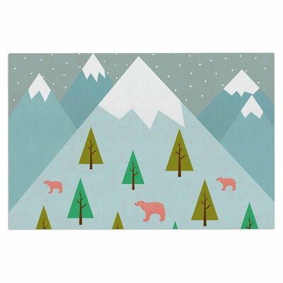 Cristina Bianco Bear Illustration Nature Doormat