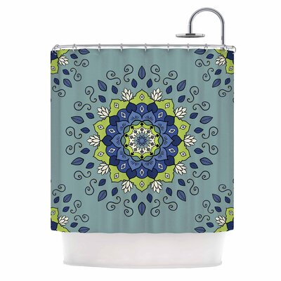 Cristina Bianco Mandala Geometric Shower Curtain
