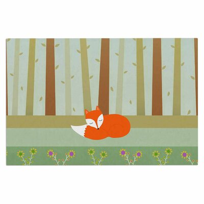 Cristina Bianco Sleeping Fox Illustration Doormat