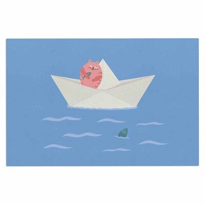 Cristina Bianco Cat Paper Boat Doormat