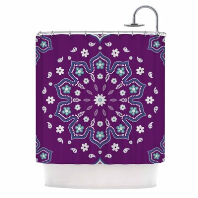 Cristina Bianco Mandala Illustration Shower Curtain