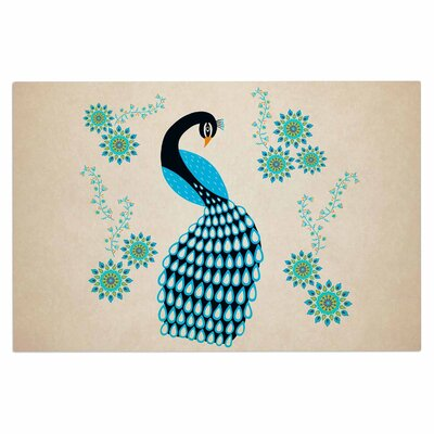 Cristina Bianco Peacock Illustration Doormat