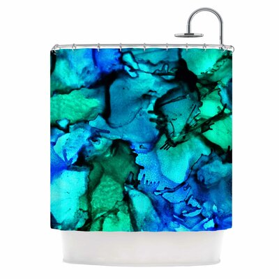 Claire Day Tidal Waves Shower Curtain