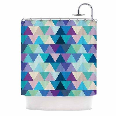 Draper Crystal Geometric Shower Curtain