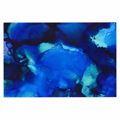 Claire Day Mountain Stream Abstract Doormat