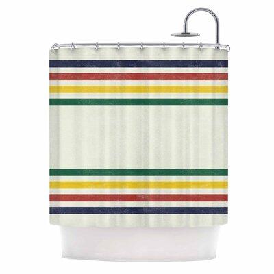 Draper Eagle Scout Stripes Shower Curtain